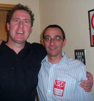 Andy from OMD with Neil Taylor